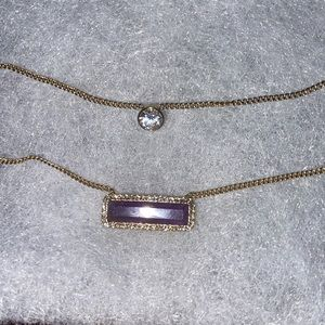 Micheal Kors amethyst layered necklace